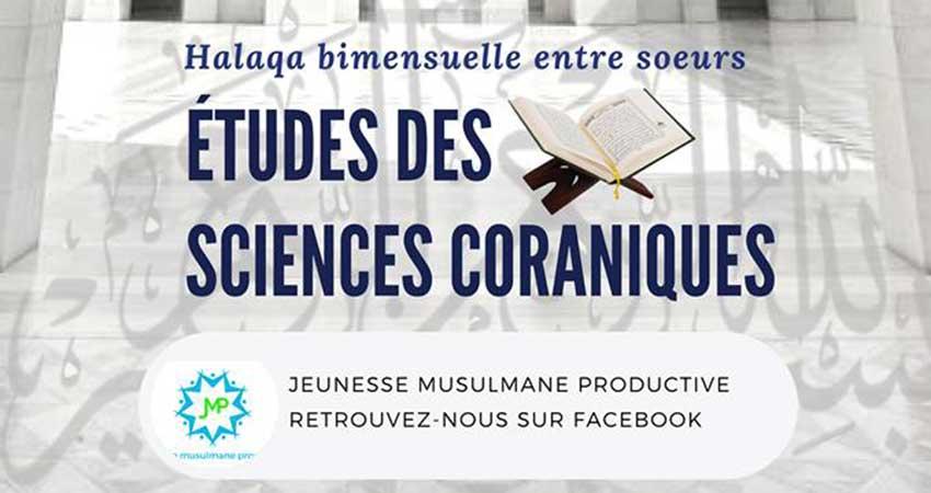 Jeunesse Musulmane Productive Halaqa d'étude des sciences coraniques pour soeurs
