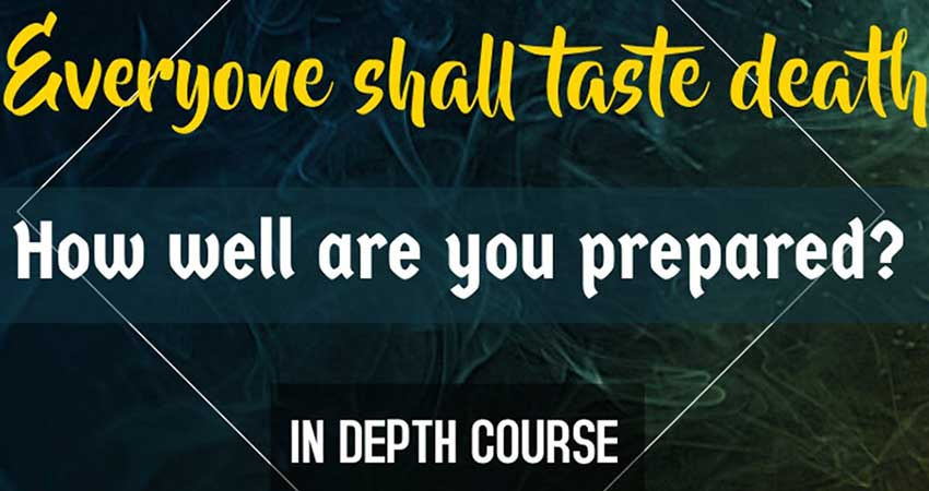 Bayan Institute and Community Centre Everyone shall taste death: How well are you prepared?