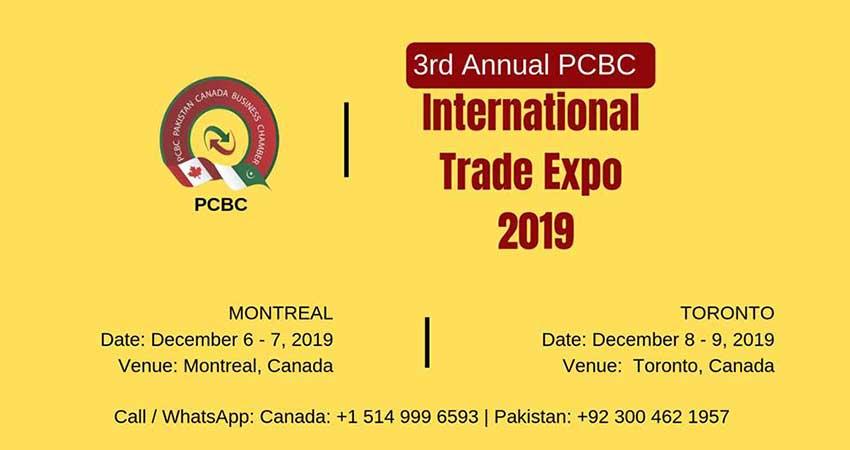 Pakistan Canada Business Chamber International Trade Expo 2019