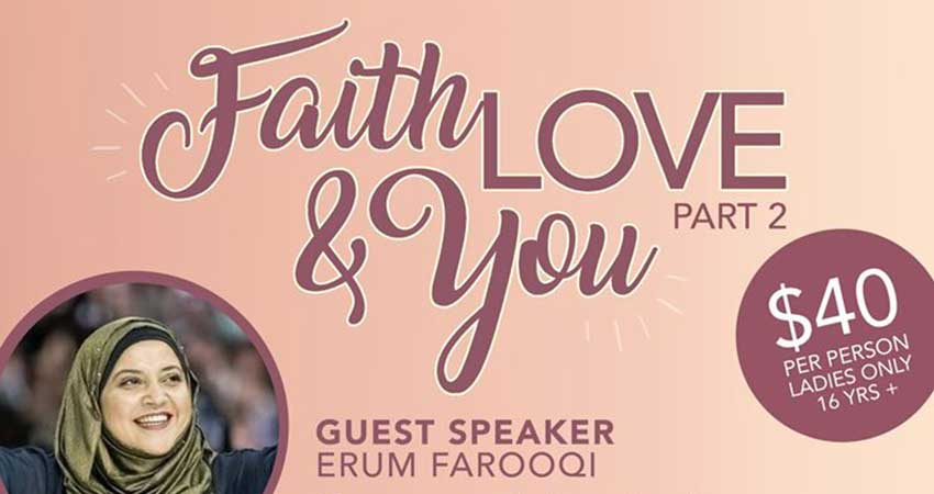 Sunnah Sisters Faith, Love, and You with Erum Farooqi