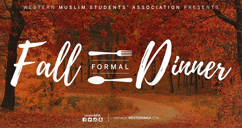 Muslim Students' Association - Western University Fall Formal Dinner