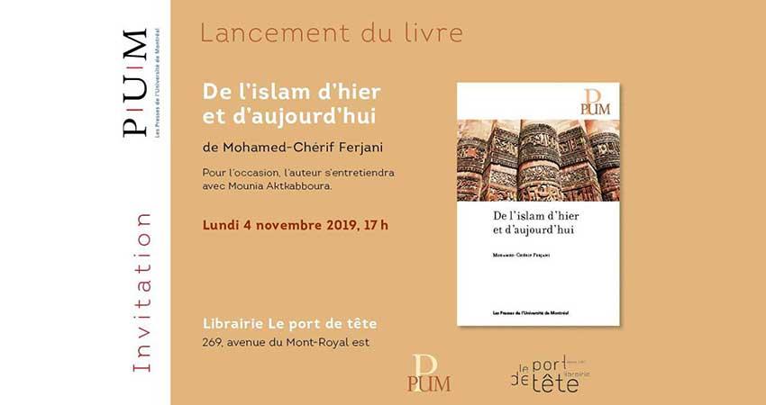 Lancement Du Livre De L Islam D Hier Et D Aujourd Hui De
