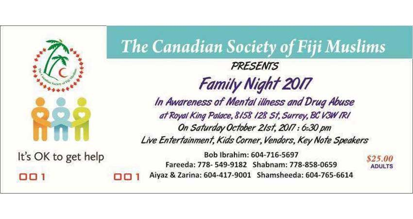 Canadian Society of Fiji Muslims Family Night