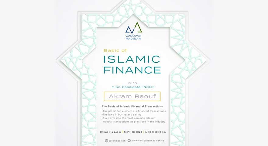 ONLINE Vancouver Madinah Basics of Islamic Finance