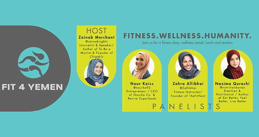 Fit 4 Yemen: Ladies Fitness Class and Wellness Panel (Lunch Included)