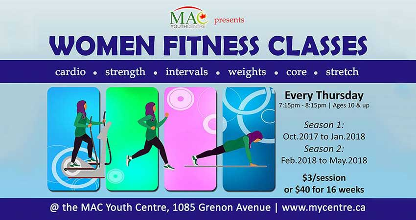 MAC Youth Centre Women Fitness Classes