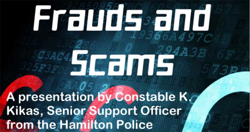 Frauds and Scams with the Hamilton Police Service