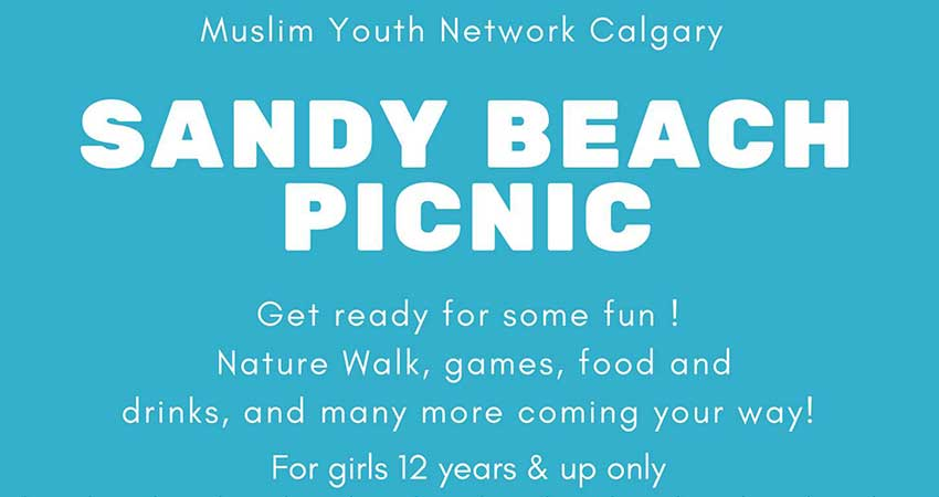 Muslim Youth Network Girls Sandy Beach Park Picnic