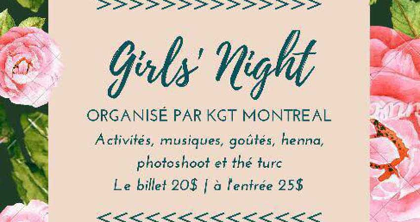 KGT Montréal Girls Night Fundraiser for the Rohingyas
