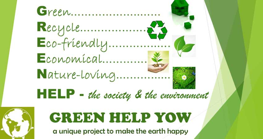 Green Help YOW Save Environment Campaign