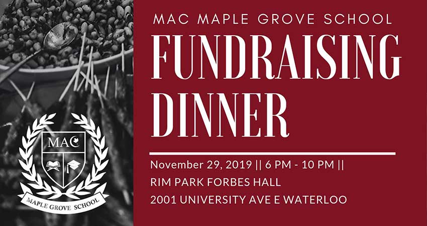 MAC Maple Grove School Fundraising Dinner 2019