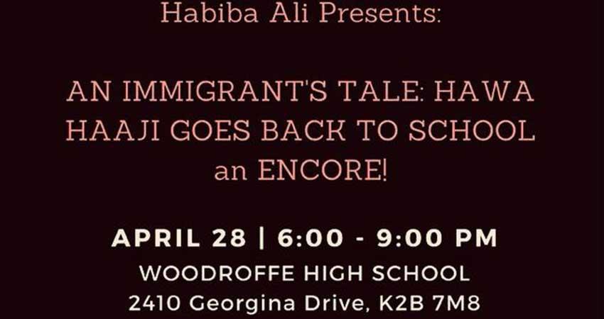 An Immigrant's Tale: Hawa Haaji Goes Back to School A Play by Habiba Ali