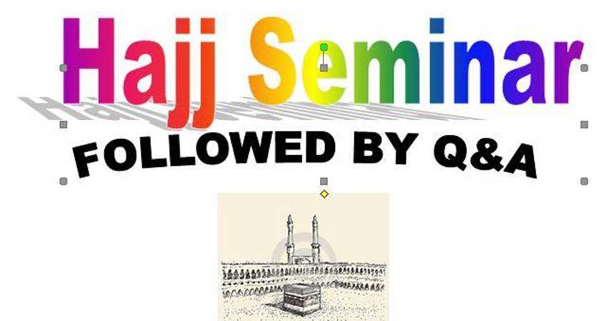 Hajj Seminar at Al Rashid Mosque