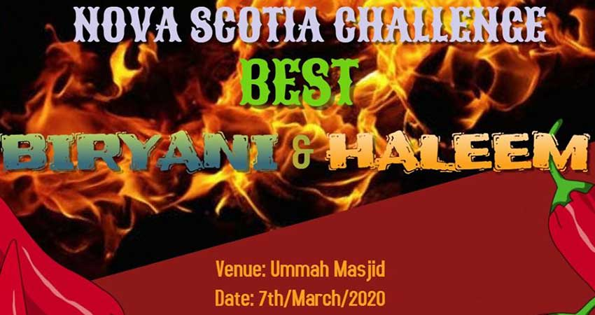 Pakistani Canadian Association of NS Community Event Best Biryani and Haleem Challenge