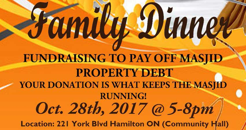 Hamilton Downtown Mosque Fundraising Dinner