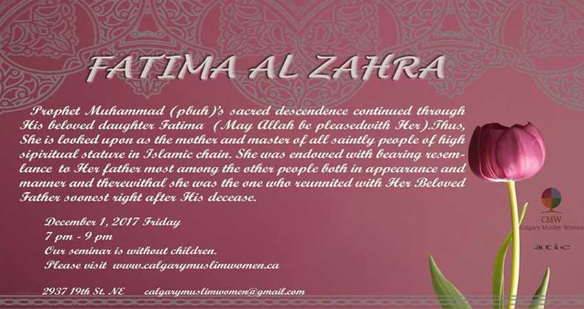 Calgary Muslim Women Religion in Life - Hazrat Fatima (Women Only)