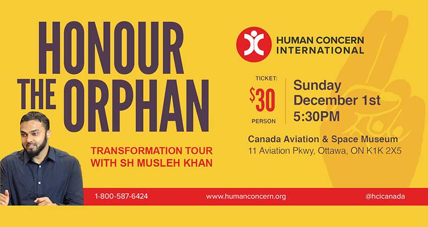 Human Concern International Honour the Orphan with Sh Musleh Khan