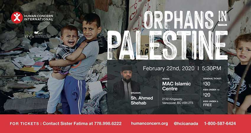 Human Concern International Orphans in Palestine Vancouver