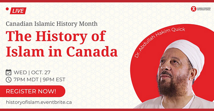 Human Concern International The History of Islam in Canada with Dr. Abdullah Hakim Quick