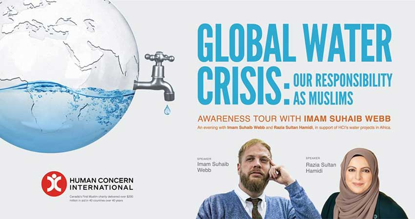 Human Concern International Global Water Crisis An Evening with Imam Suhaib Webb