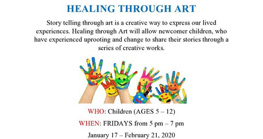 Muslim Social Services of Kitchener Waterloo Healing Through Art for Newcomer Children (Ages 5 to 12)