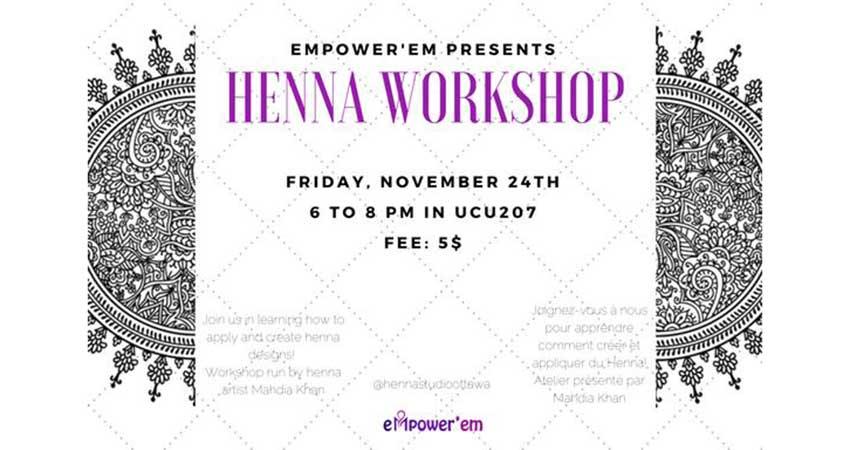 Empowerem Henna Workshop