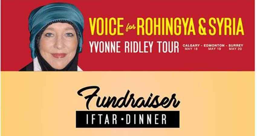 ICNA Relief Canada Fundraiser Iftar Dinner for Rohingya & Syria with Yvonne Ridley