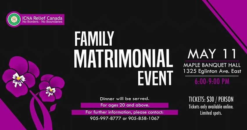 ICNA Relief Canada Matrimonial Mingle