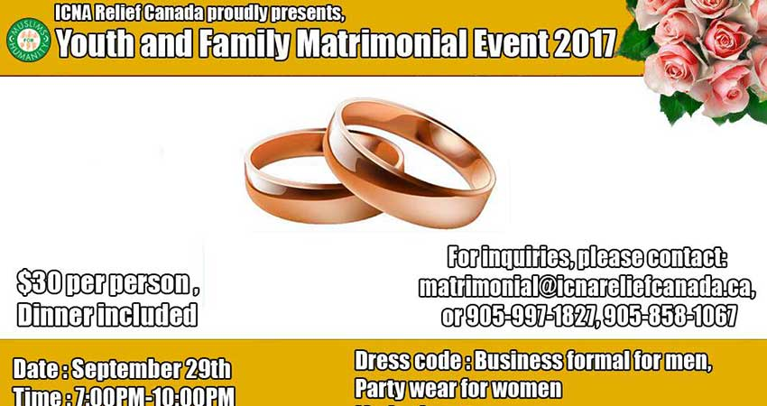 ICNA Youth & Family Matrimonial Event