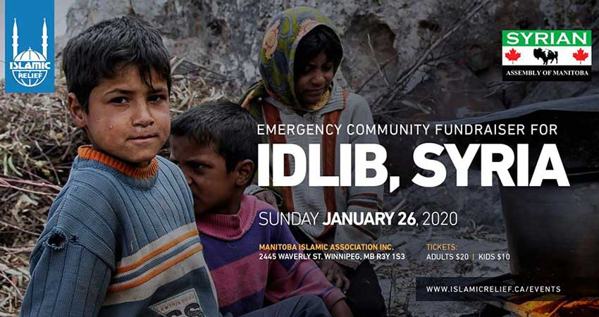 Islamic Relief Canada Emergency Fundraiser for Idlib Syria Winnipeg