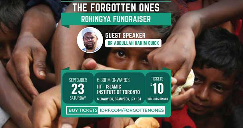 IDRF The Forgotten Ones Rohingya Fundraiser East GTA