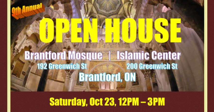 Islamic History Month Brantford Mosque Open House