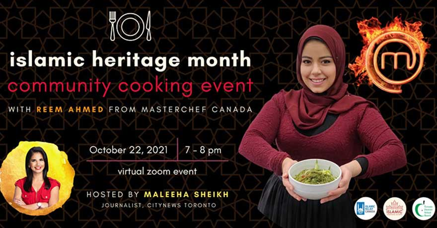 TDSB Islamic Heritage Month Community Cooking Event with Reem Ahmed