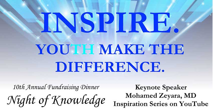Inspire. YouTH Make The Difference MAC Olive Grove School Fundraising Dinner with Mohamed Zeyara