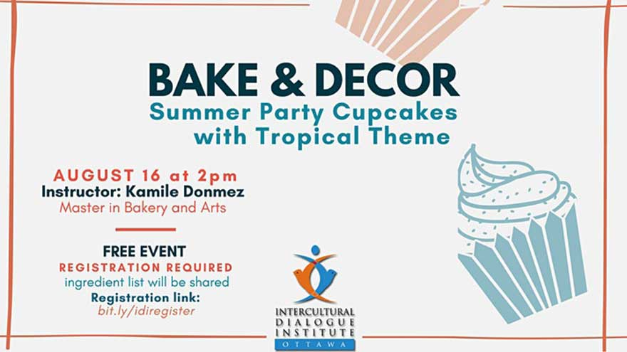 ONLINE Intercultural Dialogue Institute (IDI) Ottawa Bake and Decor