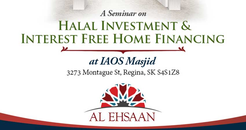Halal Investment and Interest Free Home Financing Seminar