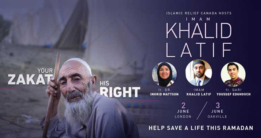 Islamic Relief Canada Grand Iftaar with Imam Khalid Latif London