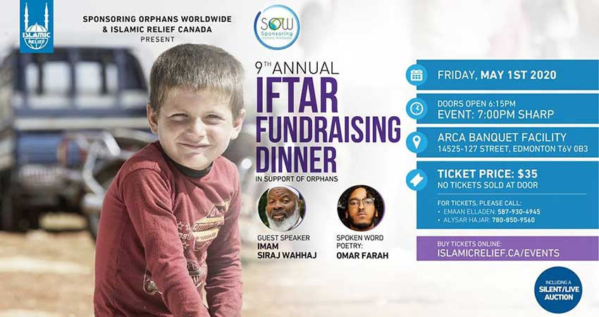 Islamic Relief Canada Annual Fundraising Iftaar in Support of Orphans Edmonton