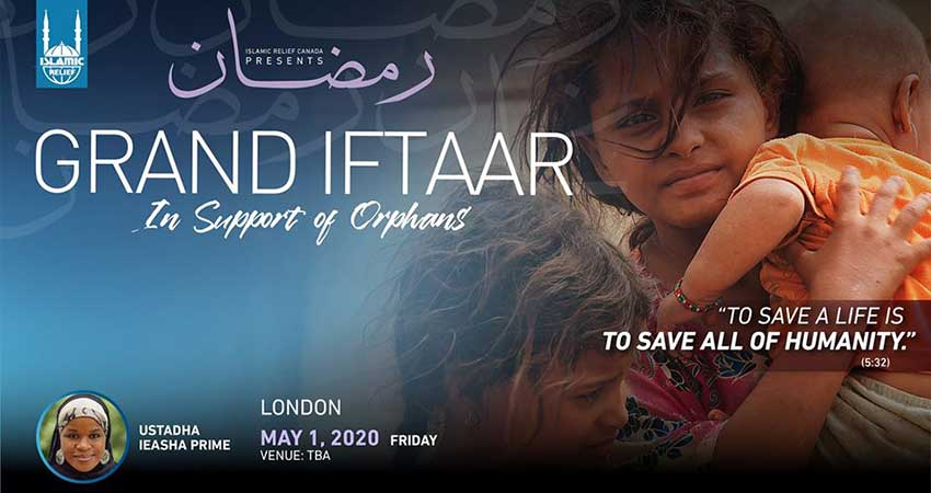 Islamic Relief Canada Grand Iftaar in Support of Orphans London