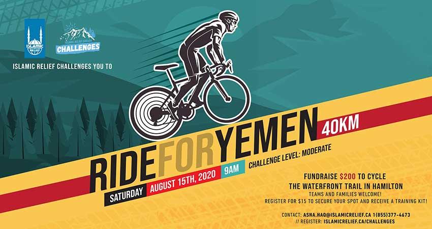 Islamic Relief Canada Ride For Yemen Fundraiser