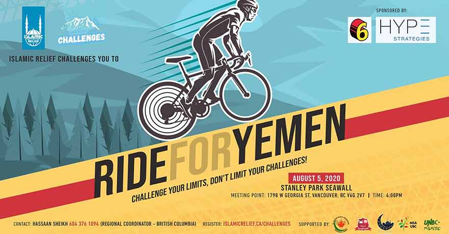 Islamic Relief Canada Ride for Yemen Vancouver (Register ASAP)