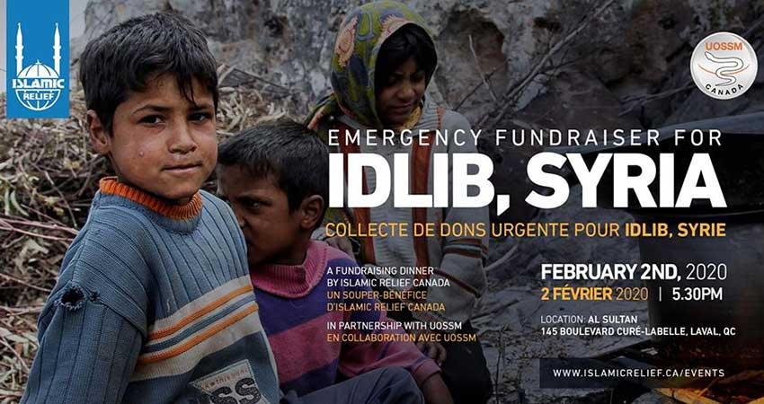 Islamic Relief Canada Emergency Fundraiser for Idlib · collecte de dons urgente pour Idlib