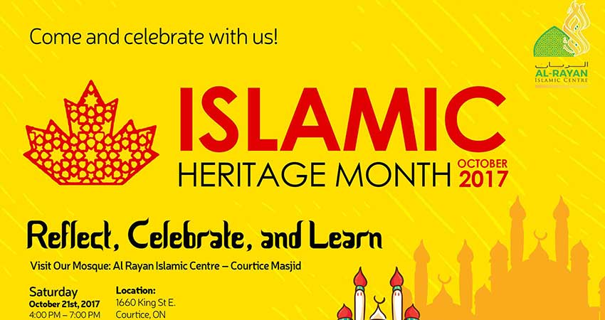 Visit Our Mosque for Islamic Heritage Month Canada at Al Rayan Islamic Centre