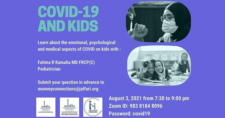 Jaffari Community Centre COVID 19 and Kids