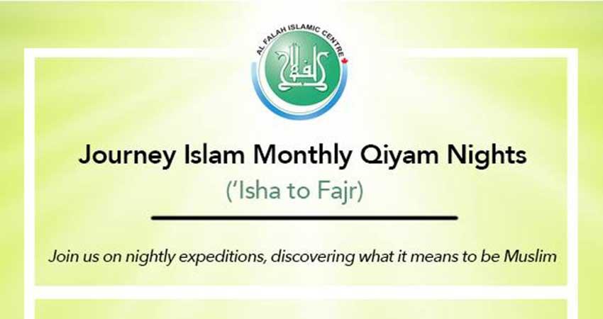 Journey Islam - Monthly Qiyam Nights
