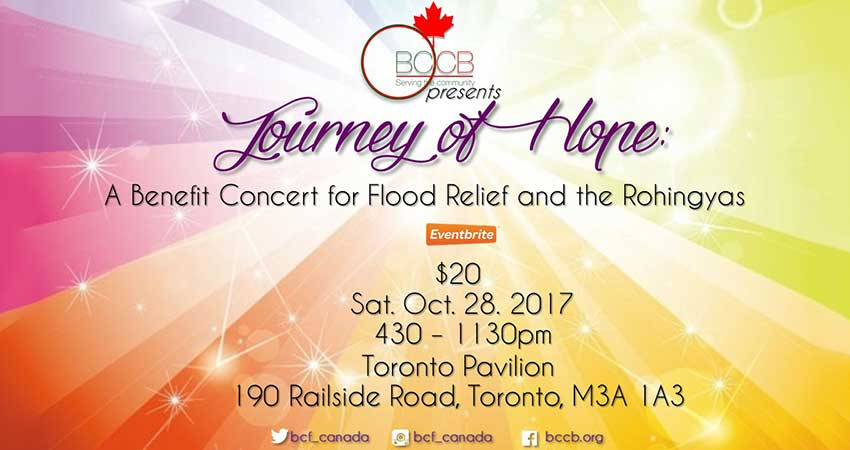 Journey of Hope: A Benefit Concert for Flood Relief And The Rohingyas