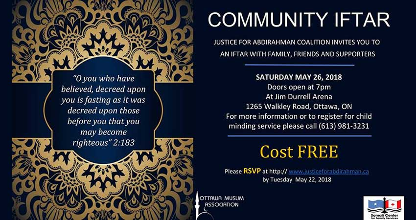 Justice For Abdirahman Community Iftar