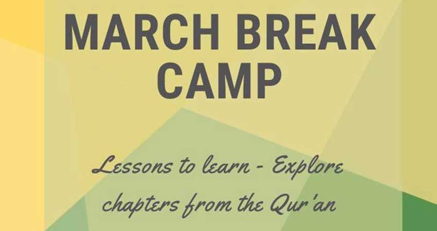 Islamic Society of Kingston March Break Camp Registration