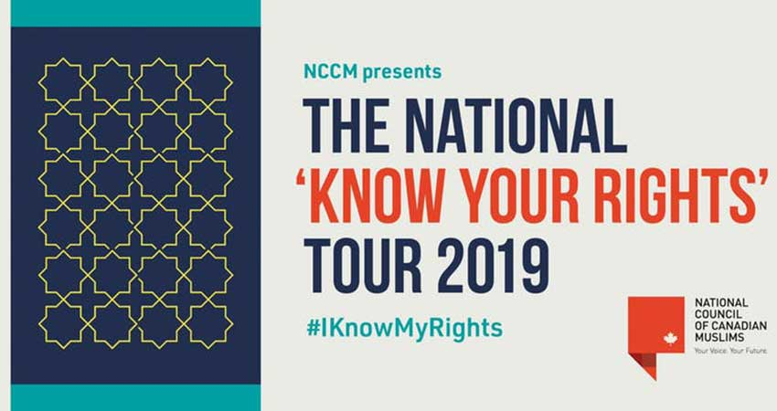 National Council of Canadian Muslims (NCCM) Know Your Rights Workshop - 'Train the trainer' (Kitchener)