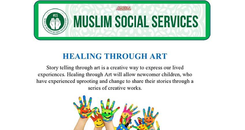 ONLINE Muslim Social Services Healing Through Art Children's Program (Register ASAP)